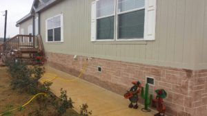 real stucco skirting installation