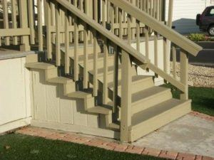mobile home stairs wood