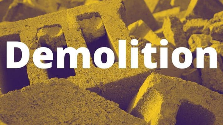 Mobile home demolition and removal