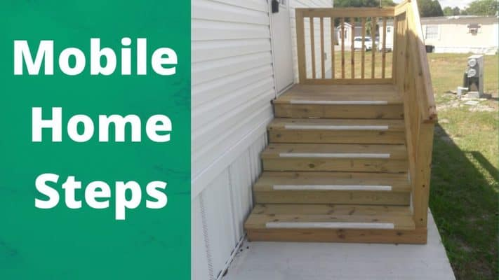 mobile home steps with a platform