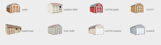 Types of shed available